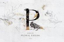 Floral Fields Alphabet&Graphics