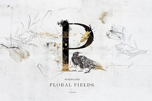 Floral Fields Alphabet&Graphics