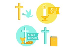 Easter Vigil and Maundy Thursday ico