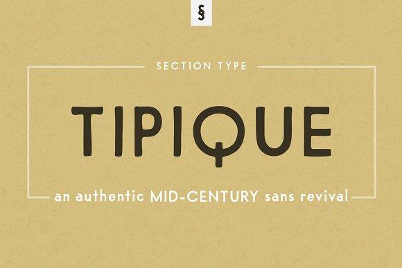 Tipique Mid-Century Font Revival