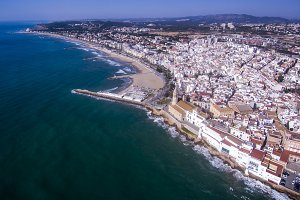 Sitges. Aerial view.