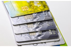 Bank cards. Modern financial instrument of cashless payment