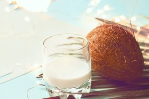 coconut. coconut milk. minimalism. b