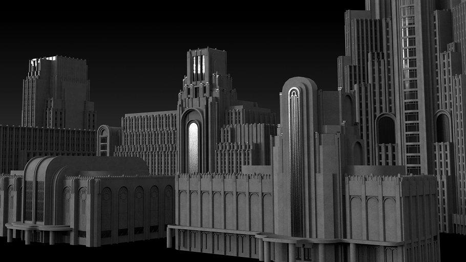 Art Deco Sample Kit by KitBash3d