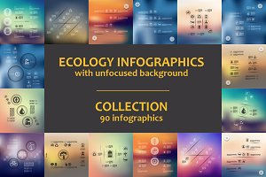 90 ECOLOGY INFOGRAPHICS. Collection
