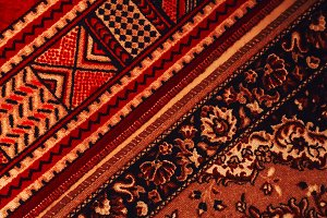 carpet texture. old rug. Red color