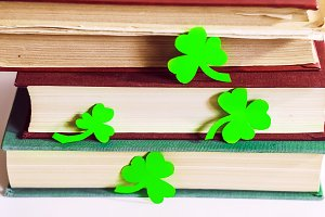 shamrock. green leaves . success and