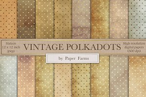 Vintage polkadot backgrounds