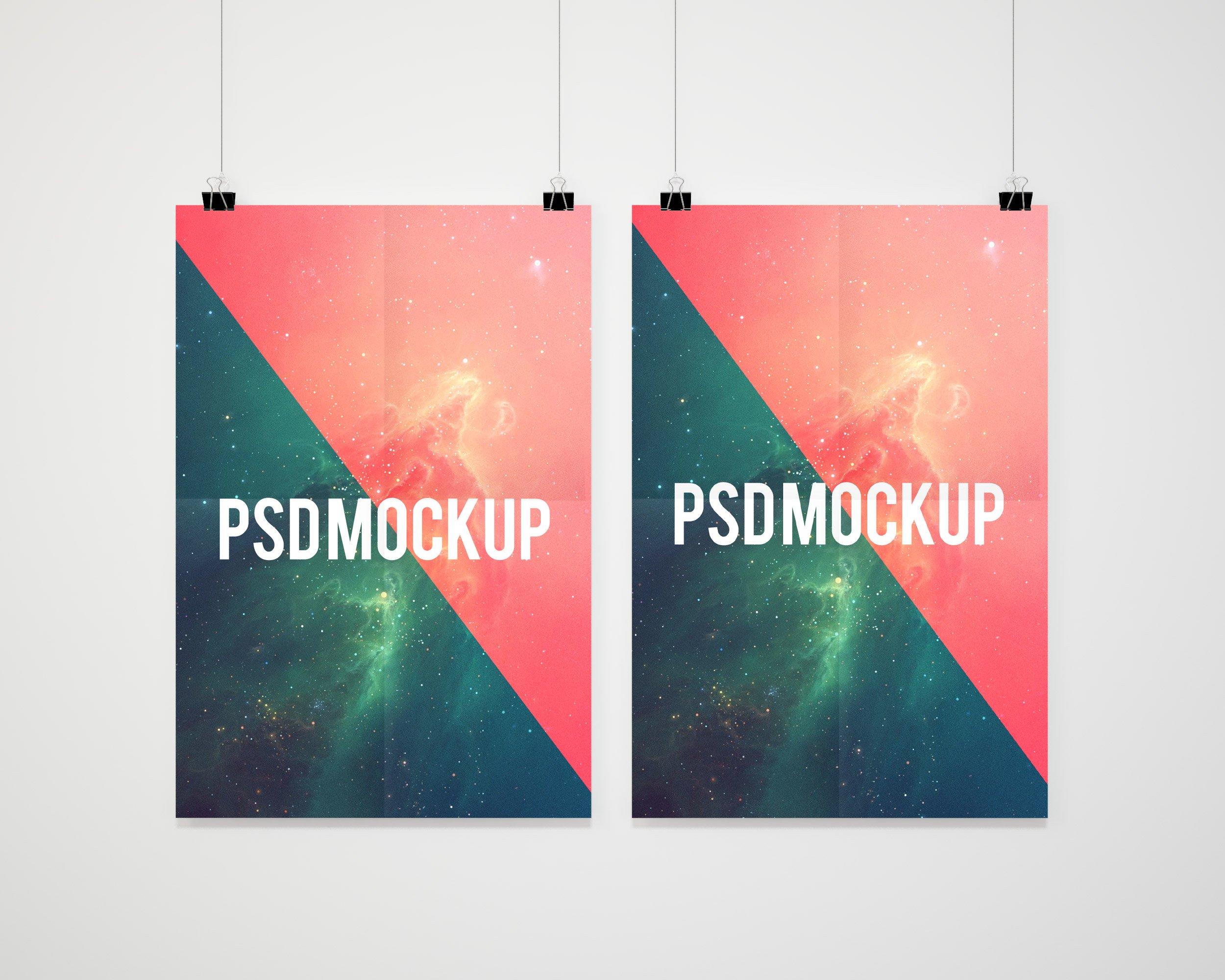 Double poster mockup presentation ~ Product Mockups ...