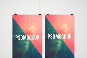 Double poster mockup presentation