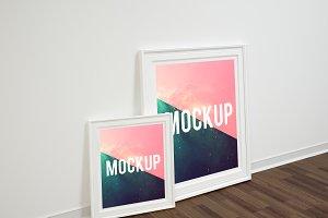 Double left frame poster mockup