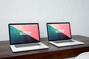 Double MacBook Pro mockup