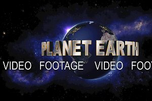 Planet Earth title - the Earth from space showing all they beauty