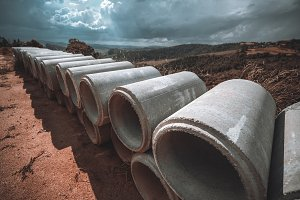 Cement aqueduct soil-pipes