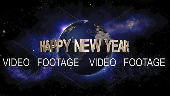 Happy New Year Title The Earth From Space Showing All They Beauty