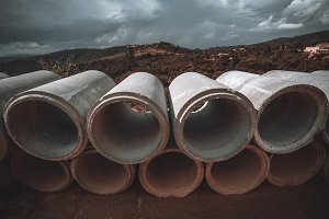 Soil-pipes for aqueduct on ground