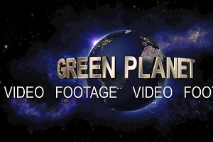 Green Planet title - the Earth from space showing all they beauty