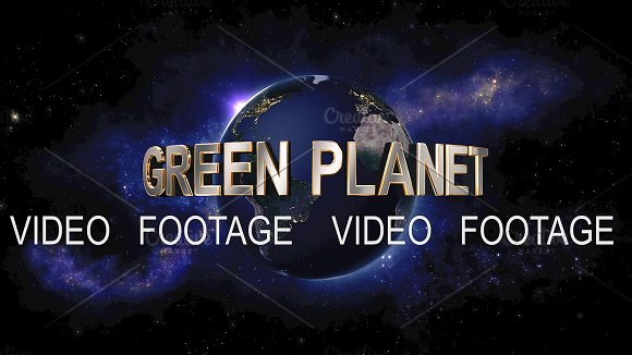 Green Planet Title The Earth From Space Showing All They Beauty
