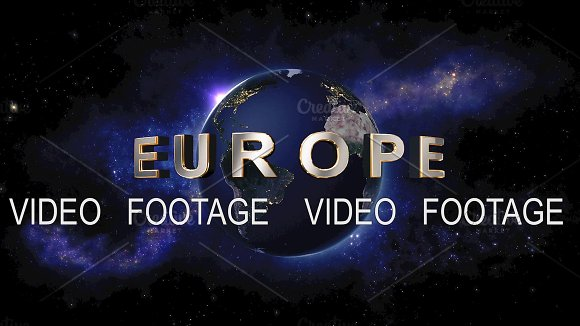 Europe Title The Earth From Space Showing All They Beauty