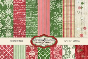 Holiday & Cheer-2 Digital Paper Pack
