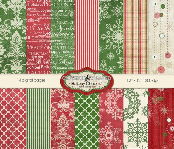 Holiday Cheer-2 Digital Paper Pack
