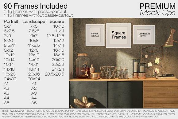 Frames Set Product Mockups Creative Market