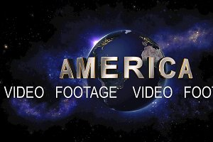 America title - the Earth from space showing all they beauty