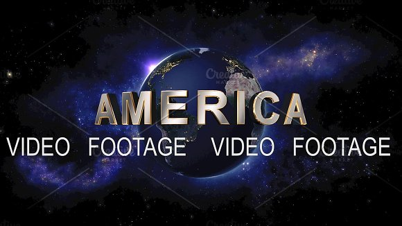 America Title The Earth From Space Showing All They Beauty