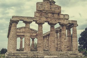 Athina temple at Paestum in Italy