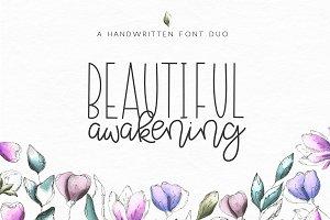 Beautiful Awakening Script Font Duo