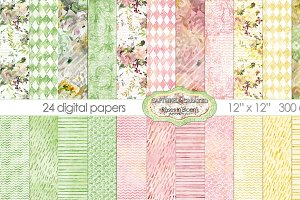 Roses In Bloom-24 Digital Papers