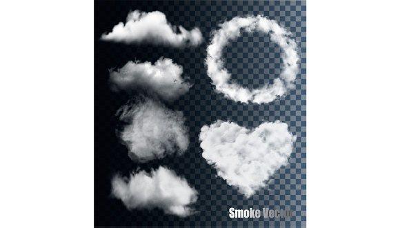 Set Of Transparent Different Smokes