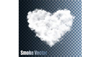 Transparent Vector Cloud Heart.