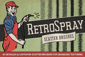 40 Retro Spray Illustrator Brushes