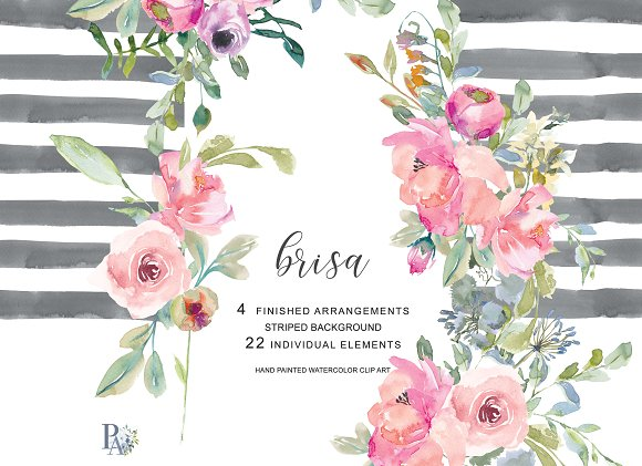 40% OFF Watercolor Blush Flowers