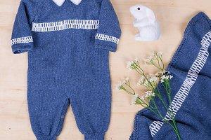 Cute newborn pajama with bunny