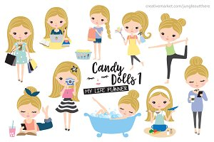 Blonde Girl Planner Illustration