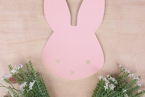 Pink bunny for easter