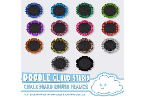 Round Framed Chalkboards