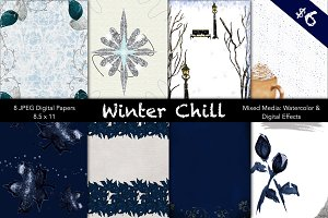 Winter Chill Digital Papers