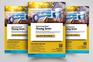 Pool Cleaning Service Flyer Temp