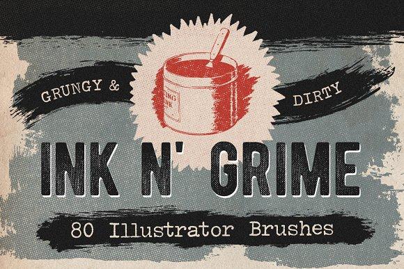 80 Dry Ink Illustrator Brushes