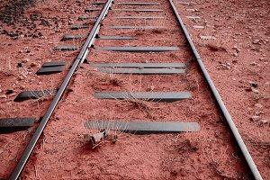 Abandoned railroad track