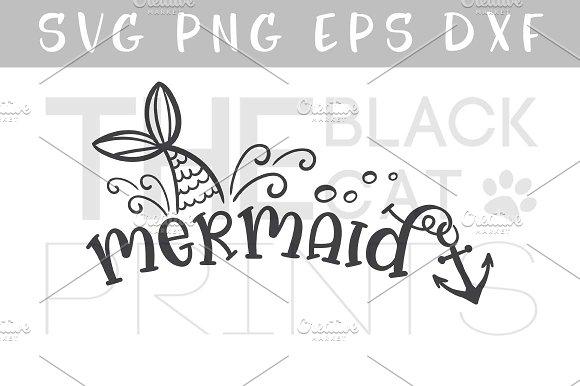 Mermaid SVG DXF PNG EPS