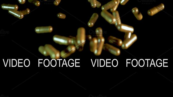 Pill Capsules Are Thrown Into The Air Slowmotion Shot 180 Fps