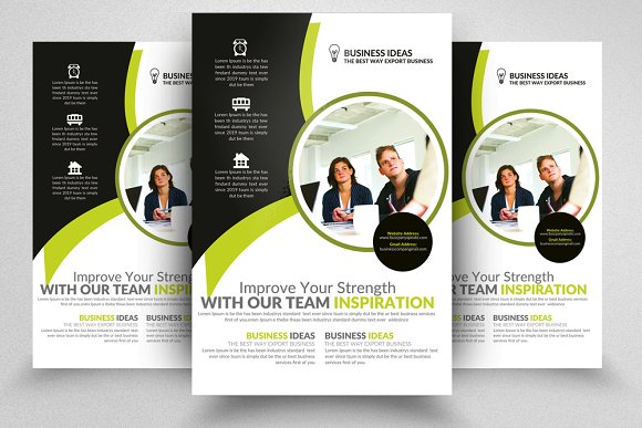 business analyst flyer template flyers