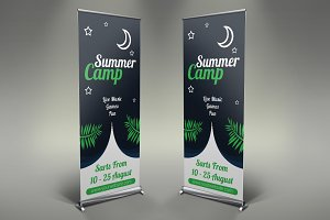 Camping Roll Up Banner