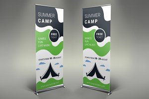 Camping Roll Up Banner #131