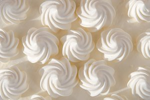 White cream on cake. Texture
