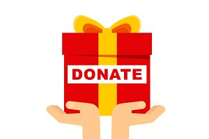 donate gift concept